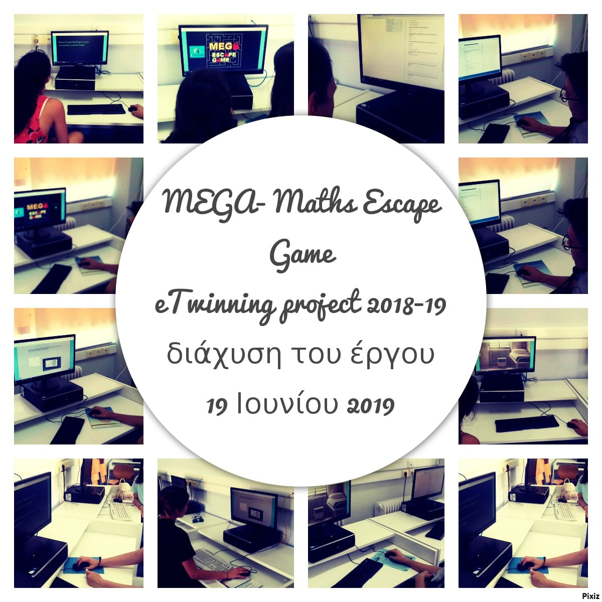 eTwinning project 2018 2019 MEGA Maths Escape Game